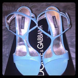 Dolce & Gabbana Blue Sandals heels 💯% Authentic